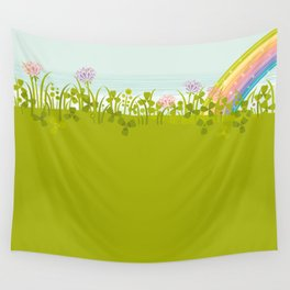 Sunny Day. Clovers. Wall Tapestry