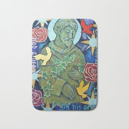 St. Francis of Assisi, Saint, Religion, history, statue Bath Mat