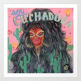 LUCHADORA Art Print