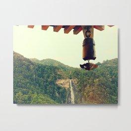 Revered Waterfall Metal Print