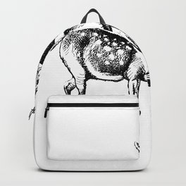 Alice and the Fawn in Black with Transparent Background Backpack