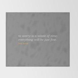Bea Davis—Grey Throw Blanket