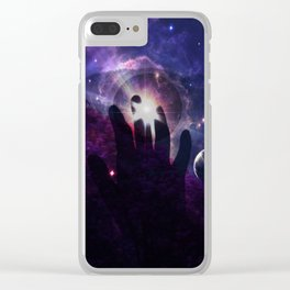 god's hand Clear iPhone Case