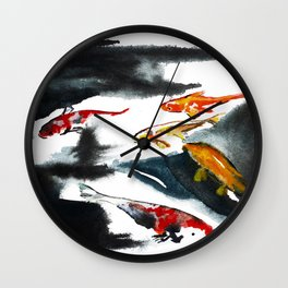 Koi in the Conservatory at Swansons Nursery Wall Clock