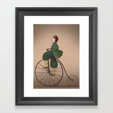 Victorian Biker Framed Art Print