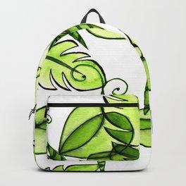 Green watercolour dragonflies Backpack