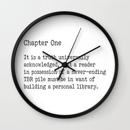 Chapter One - White Wall Clock