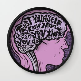 Trust Yourself Wall Clock