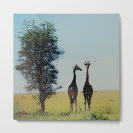 two tall.  Metal Print