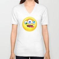 positive V-neck T-shirts featuring Positive by Keyspice