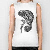 chameleon Biker Tanks featuring Chameleon  by Ejaculesc