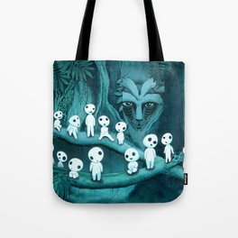 Kodama and the Forest Spirit Tote Bag