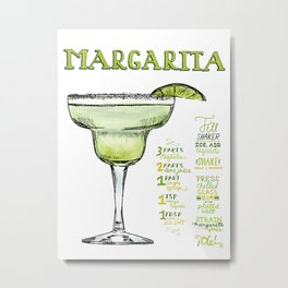 The Drink Collective: Margarita Metal Print