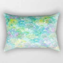Enchanted Spring Floral Abstract Rectangular Pillow