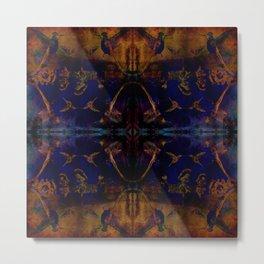 Butterfly dance geometry Metal Print