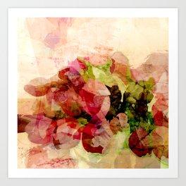 Still life with tulips Art Print