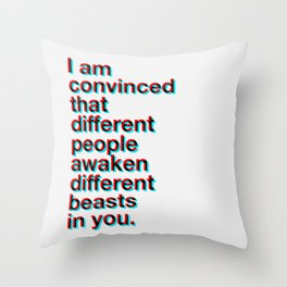 I Am Convinced Throw Pillow