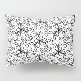 Pentagon Flower Black & White Pillow Sham