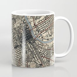 Vintage Map of Nashville Tennessee (1929) Coffee Mug