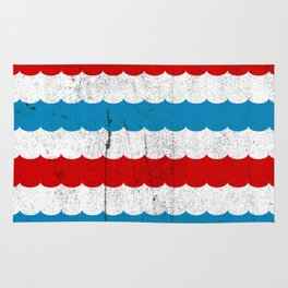 The Sailor - Vintage Nautical Striped Waves RWB Rug