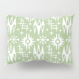 Mid Century Modern Atomic Space Age Pattern Nile Green Pillow Sham