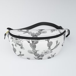 Cactus Rose Garden Stripe Black and White Fanny Pack
