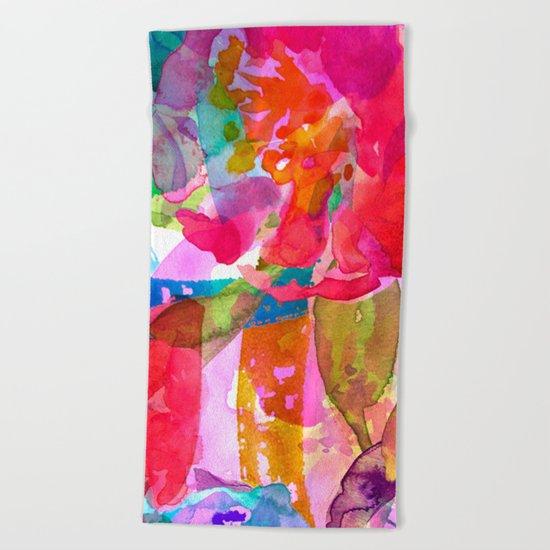 abstract bouquet Beach Towel