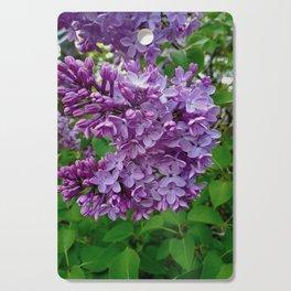 Lilac Blooms Cutting Board