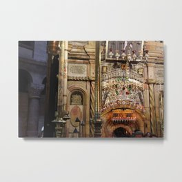 Church of the Holy Sepulchre alter, Jerusalem Metal Print