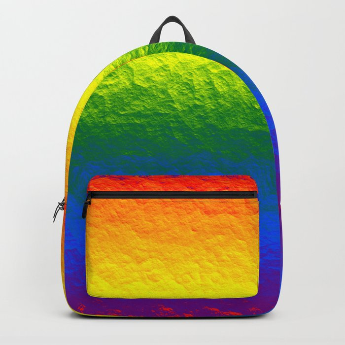 Rainbow Gradient Painted Pattern Backpack