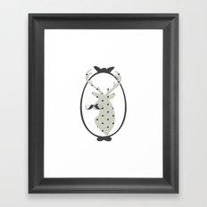 Frame, Deer, Vintage, Modern, Home Decor, Mustache, Polka dot Framed Art Print