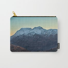 Sunset on a Snow Covered Mountain Photography Print Carry-All Pouch