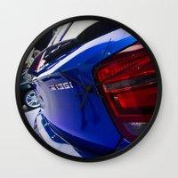 bmw Wall Clocks featuring BMW M135i back by Mauricio Santana