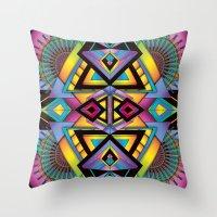 totem Throw Pillows featuring Totem by Amrei Hofstätter