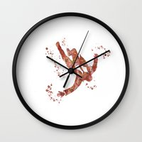 mad men Wall Clocks featuring Mad Men  by Carma Zoe