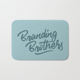 Branding Brothers turquoise Bath Mat