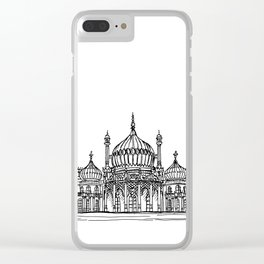 Brighton Royal Pavilion Facade Drawing Clear iPhone Case