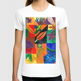 Colourful Plant Collage T-shirt