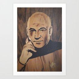 Jean-Luc Picard (Patrick Stewart)  Art Print