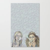 sex and the city Canvas Prints featuring Smokin' Ladies of Sex and The City  by Butt'n Booty