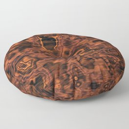 Knotted Wood Floor Pillow