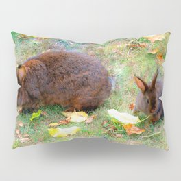 Bunny mom with baby Pillow Sham