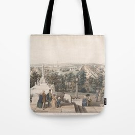Vintage Pictorial Map of Washington DC (1849) Tote Bag