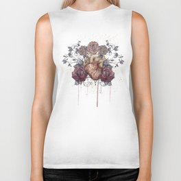 Flowers from my heart Biker Tank