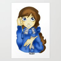 ravenclaw Art Prints featuring Ravenclaw by Maiii