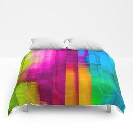 Vertical Rainbow Color Palette Comforters