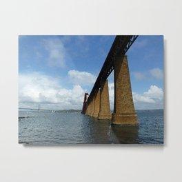Under the Forth Bridge, Scotland Metal Print