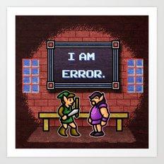 I am Error Art Print