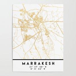 MARRAKESH MOROCCO CITY STREET MAP ART Poster