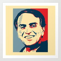 carl sagan Art Prints featuring Carl Sagan 'Hope' by cvrcak